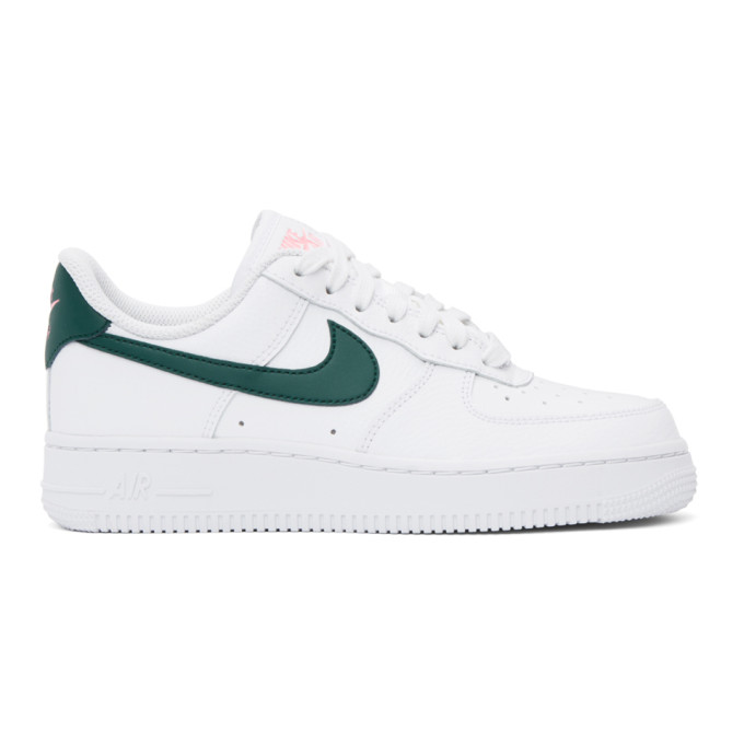 Nike Sneakers NIKE WHITE AND GREEN AIR FORCE 1 07 SNEAKERS