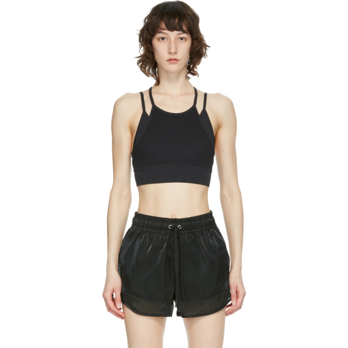 Nike NIKE BLACK YOGA DRI-FIT INDY SPORTS BRA