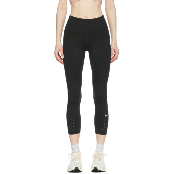 Nike NIKE BLACK EPIC LUXE CROP LEGGINGS