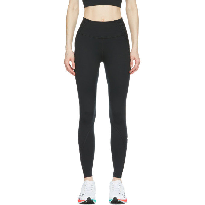 Nike NIKE BLACK LACED ONE LUXE 7/8 LEGGINGS