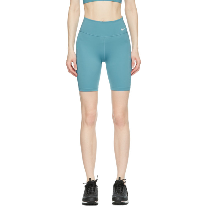 Nike NIKE BLUE ONE MID-RISE BIKER SHORTS