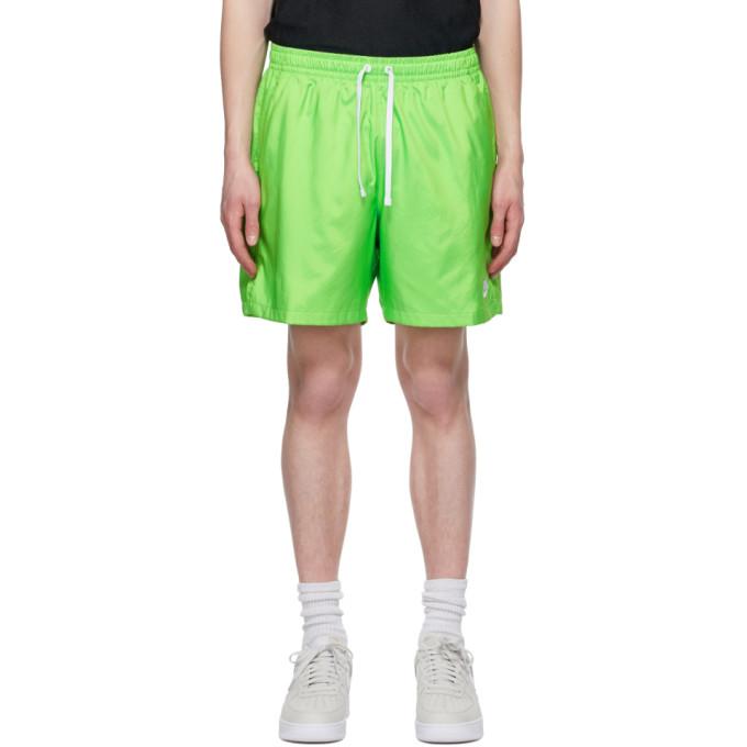 Nike NIKE GREEN WOVEN SHORTS