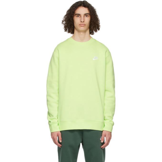 Nike Sportswear Oversize Crewneck Sweatshirt In Liquid Lime
