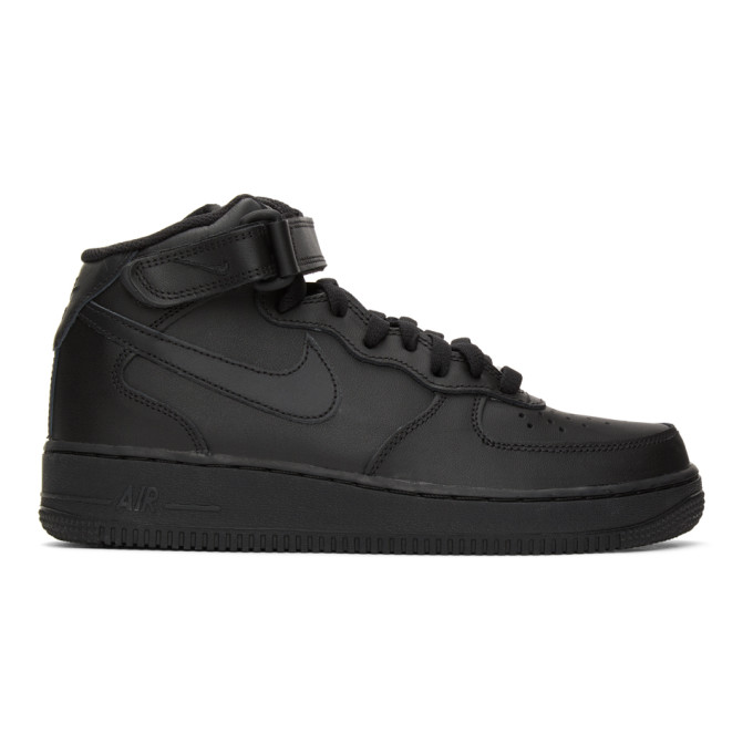 Nike Force 1 Mid Baby/toddler Shoe In 001 Blk/blk