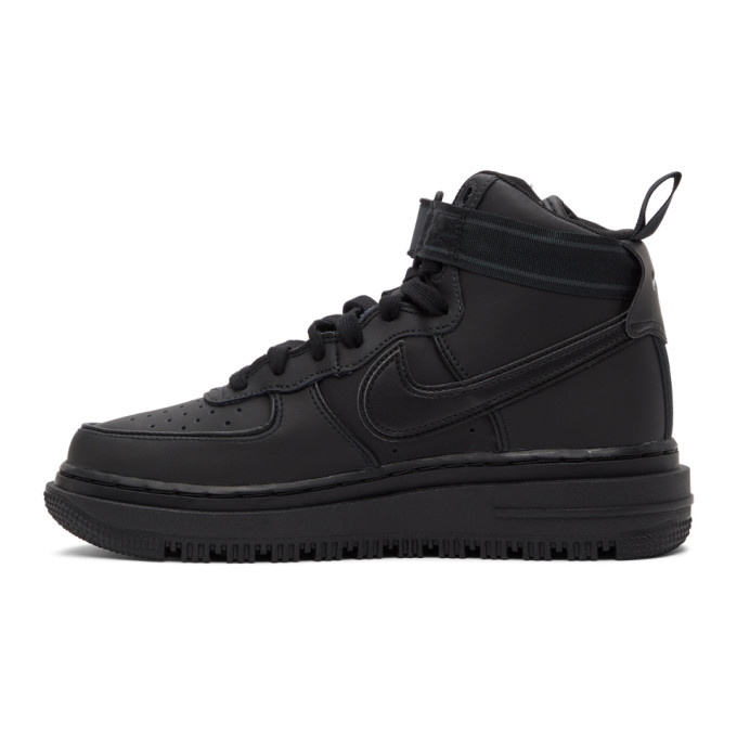 NIKE Leathers NIKE BLACK AIR FORCE 1 BOOT SNEAKERS