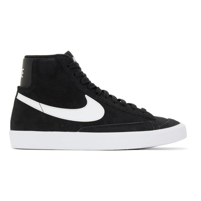 Nike NIKE BLACK SUEDE BLAZER MID 77 SNEAKERS