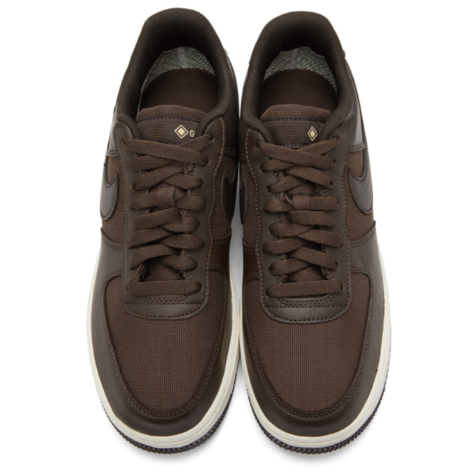 NIKE Canvases NIKE BROWN AIR FORCE 1 GTX SNEAKERS