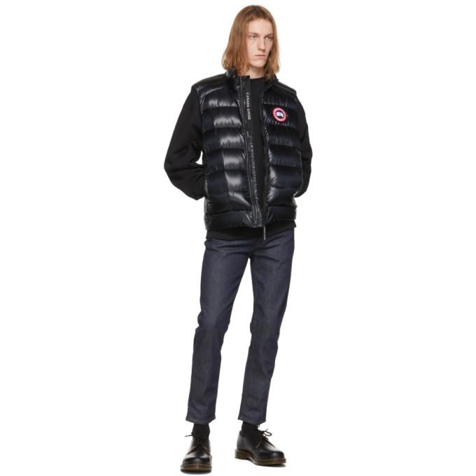 CANADA GOOSE Vests CANADA GOOSE BLACK DOWN CROFTON VEST