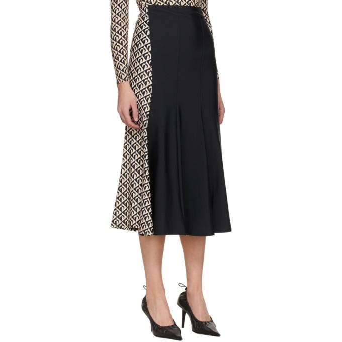 MARINE SERRE Skirts MARINE SERRE BLACK BODYCON COCOON FLARED SKIRT