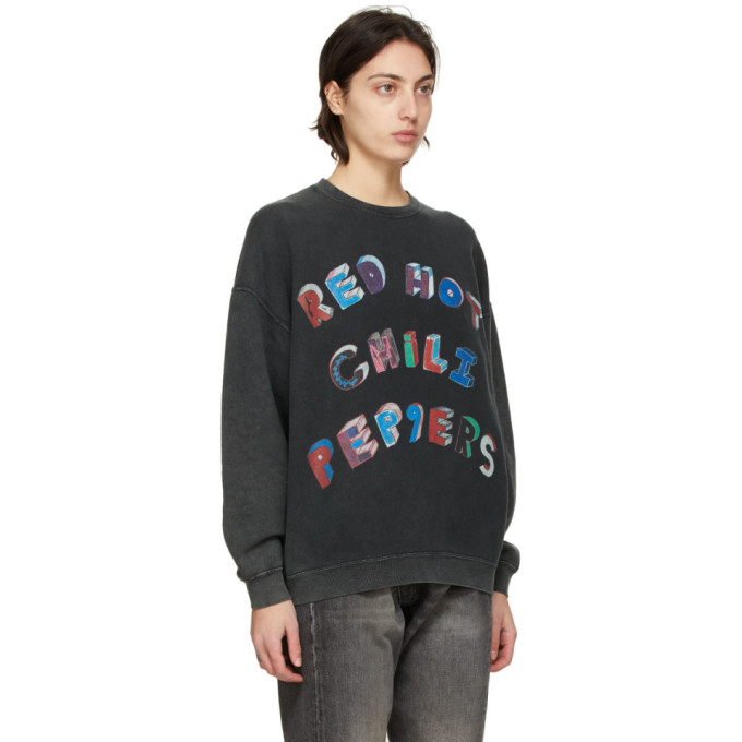 R13 Sweatshirts R13 BLACK OVERSIZED RHCP FLEA ART SWEATSHIRT