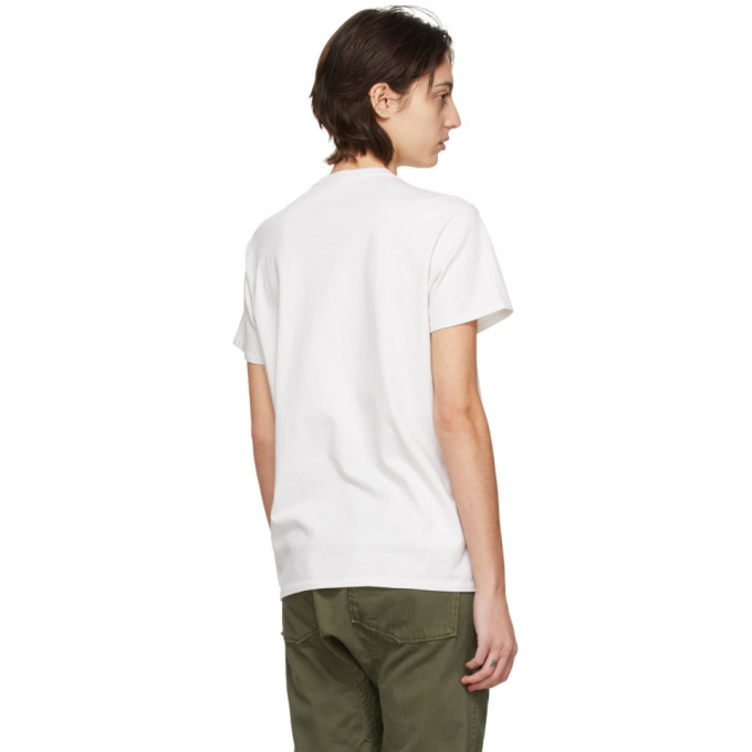 R13 Cottons R13 OFF-WHITE RHCP DOODLE BOY T-SHIRT