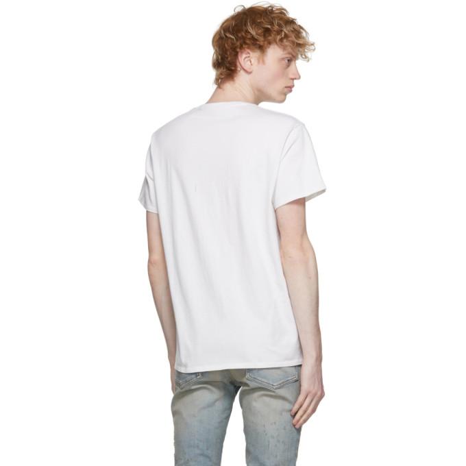 R13 Cottons R13 WHITE RHCP DOODLE BOY T-SHIRT