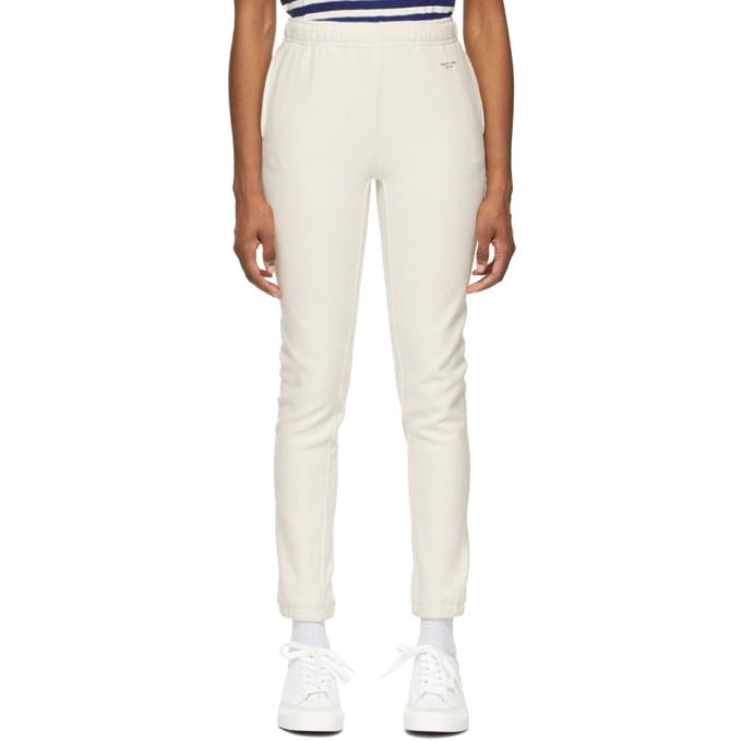 Rag & Bone Track pants RAG AND BONE OFF-WHITE TERRY CITY SWEATPANTS