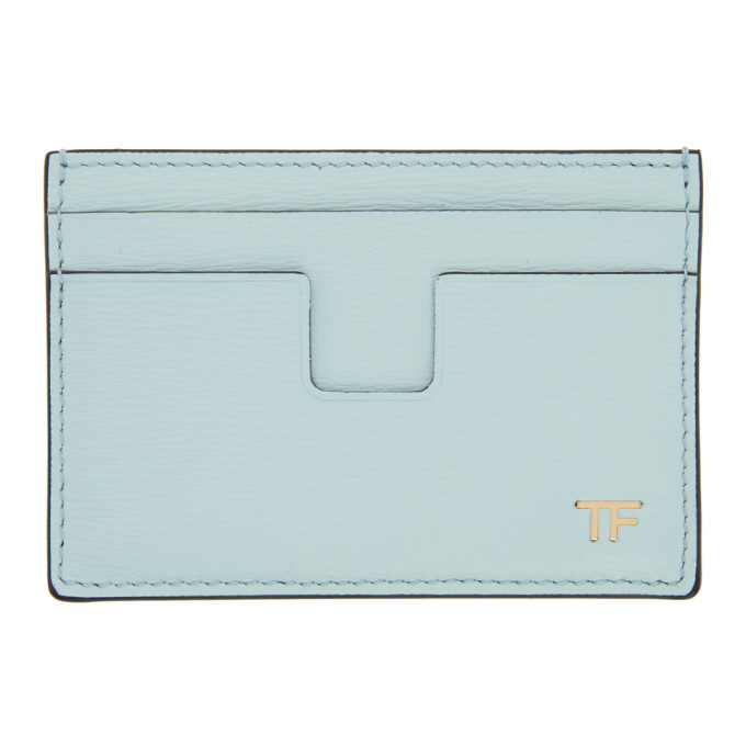 Tom Ford Wallets TOM FORD BLUE T-LINE CLASSIC CARD HOLDER