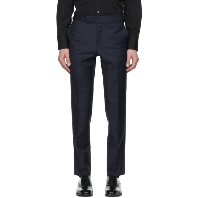 Tom Ford Navy Sharkskin OConnor Trousers