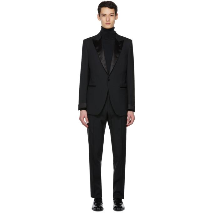 Tom Ford Black Wool O'connor Tuxedo In Q22r12 Blac