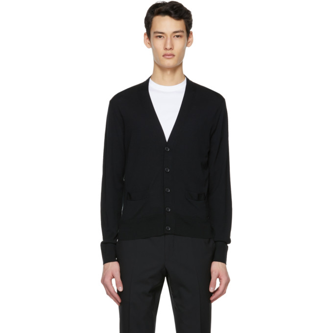 Tom Ford TOM FORD BLACK FINE GAUGE MERINO CARDIGAN