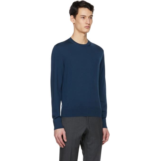 TOM FORD Sweaters TOM FORD BLUE FINE MERINO SWEATER