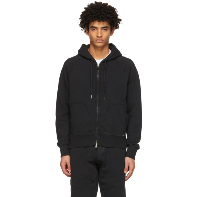 Tom Ford TOM FORD BLACK ZIP HOODIE