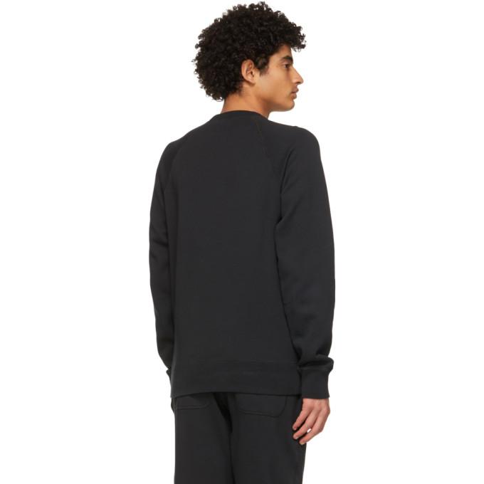 TOM FORD Sweatshirts TOM FORD BLACK GARMENT-DYED SWEATSHIRT