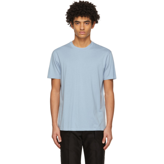 Tom Ford TOM FORD BLUE LYOCELL JERSEY T-SHIRT