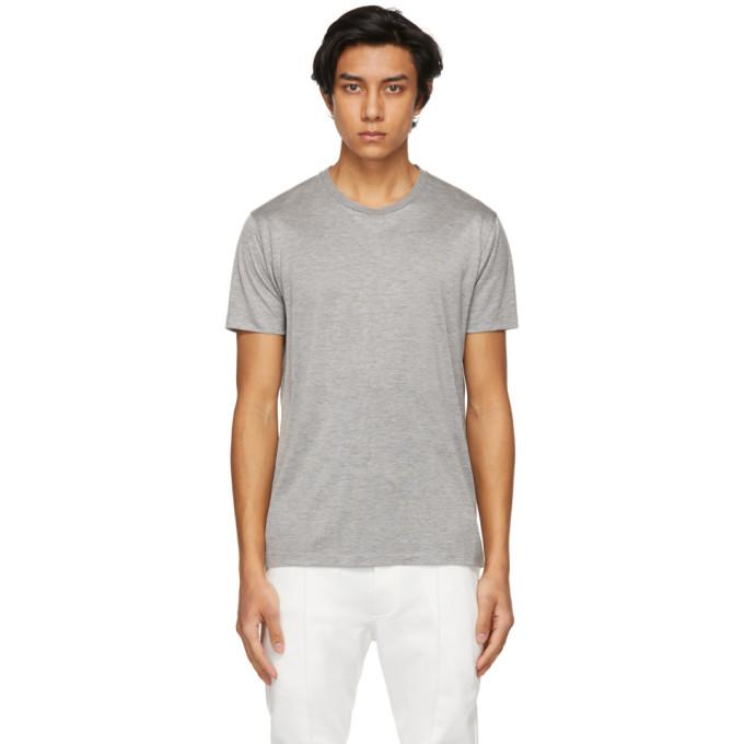Tom Ford T-shirts TOM FORD GREY VISCOSE T-SHIRT