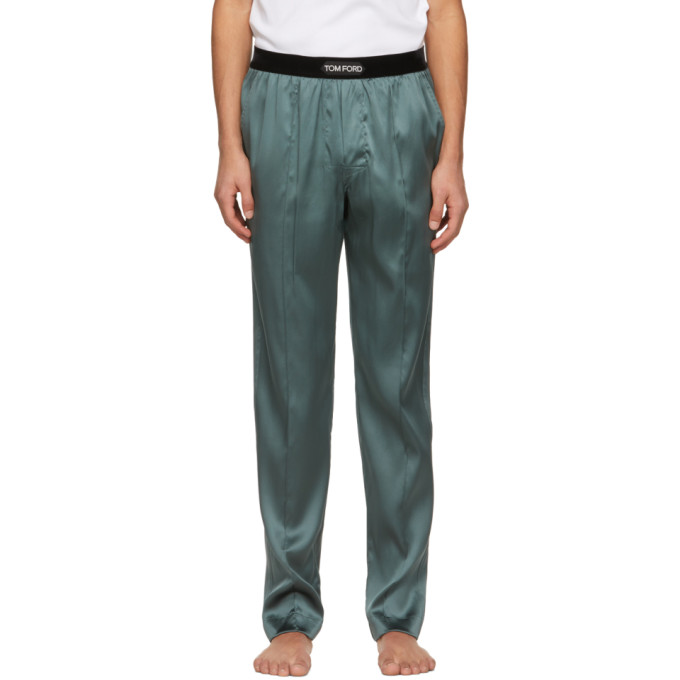 Tom Ford Silks TOM FORD GREY SILK PYJAMA PANTS
