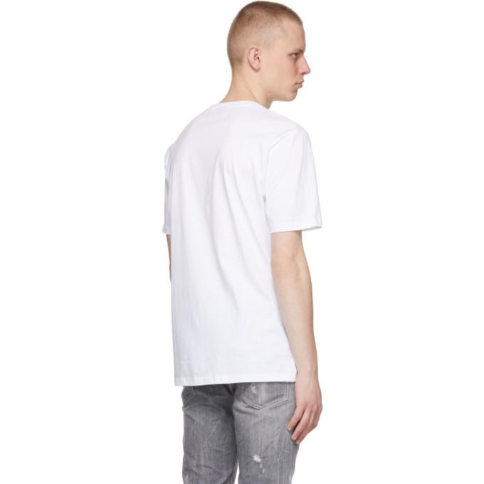 HUGO Cottons HUGO WHITE DURNED212 T-SHIRT
