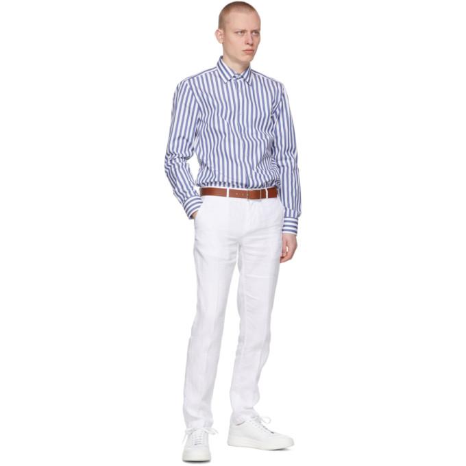 HUGO BOSS Linens BOSS WHITE LINEN CRIGAN 3-D TROUSERS