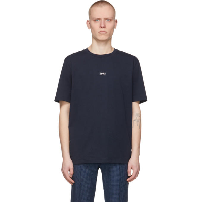 Hugo Boss Boss Men's Tchup Relaxed-fit T-shirt In 404 Dk Blue