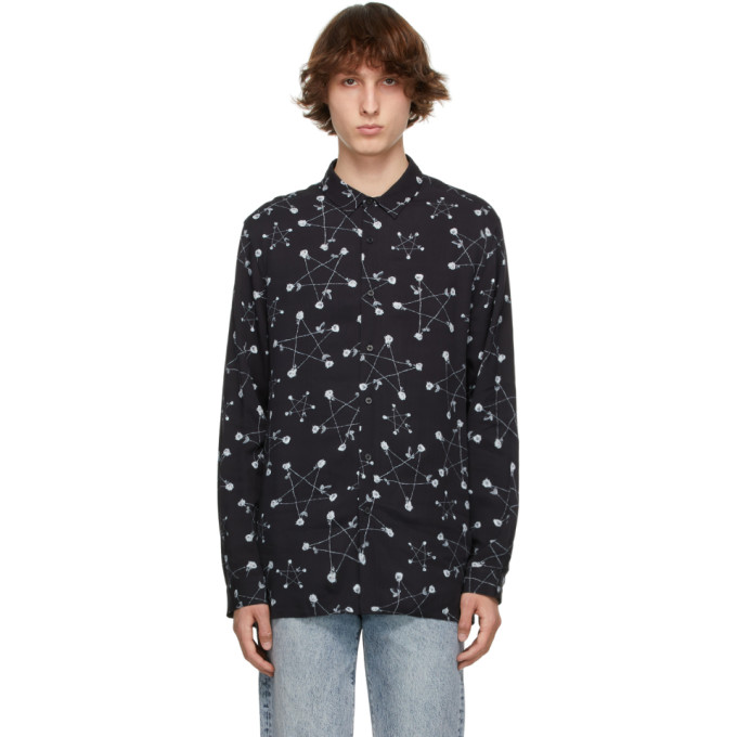 Ksubi Shirts KSUBI BLACK GRAPHIC GOTH STAR SHIRT