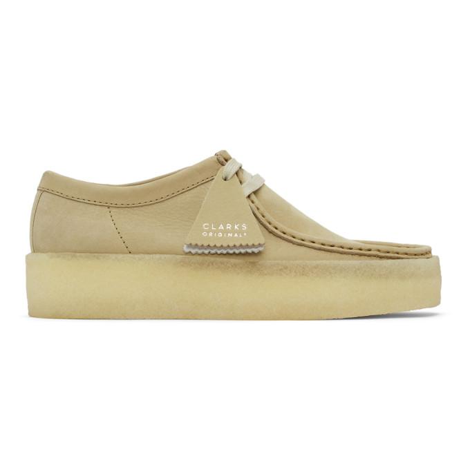 Clarks Originals Wallabee Cup Shoes - Maple Nubuck In Mape