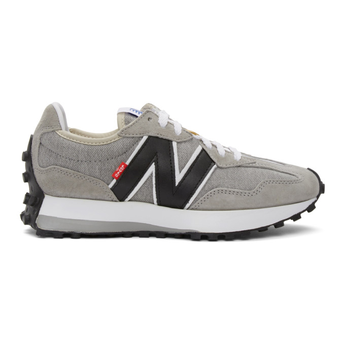 Levi's Levis Grey And White New Balance Edition 327 Sneakers In Grey/white