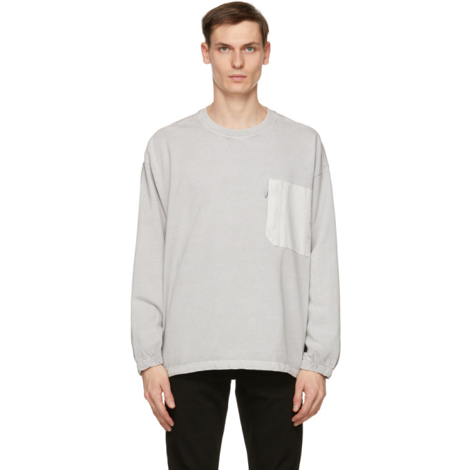 Levi's LEVIS GREY UTILITY POCKET LONG SLEEVE T-SHIRT