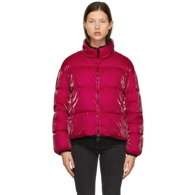Moncler MONCLER RED DOWN GRENIT JACKET