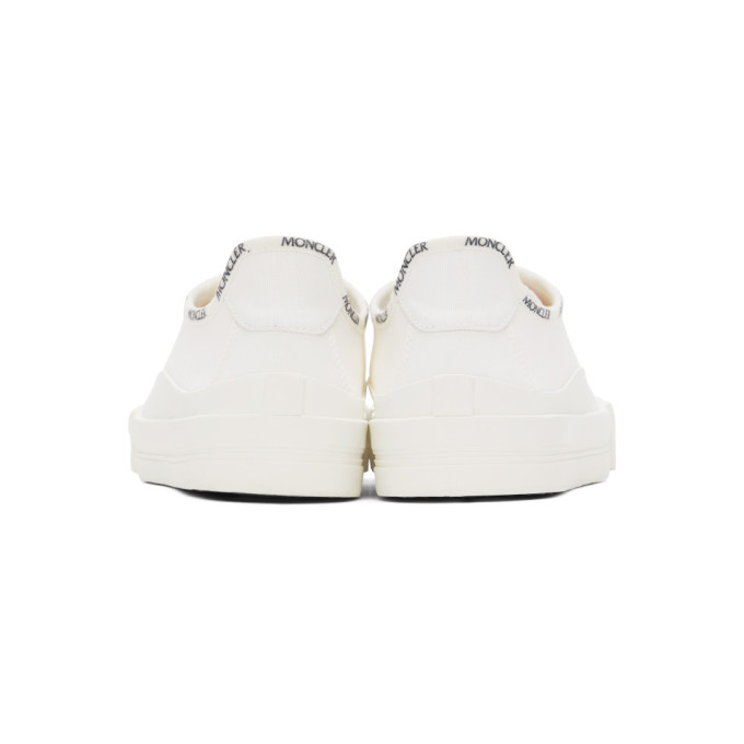 MONCLER Canvases MONCLER WHITE CANVAS GLISSIERE SNEAKERS