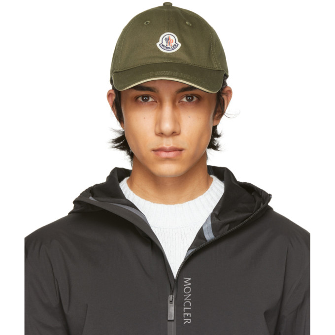 Moncler MONCLER GREEN TRICOLOR STRAP BASEBALL CAP