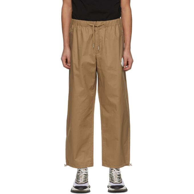 Moncler Khaki Cotton Ripstop Lounge Pants In 240 Khaki
