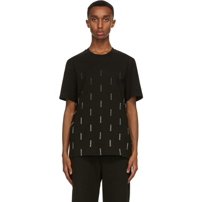 Moncler Black Jersey Fade Logo T-Shirt  - buy with discount