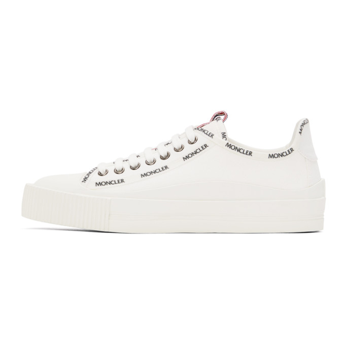MONCLER Canvases MONCLER OFF-WHITE CANVAS GLISSIERE SNEAKERS