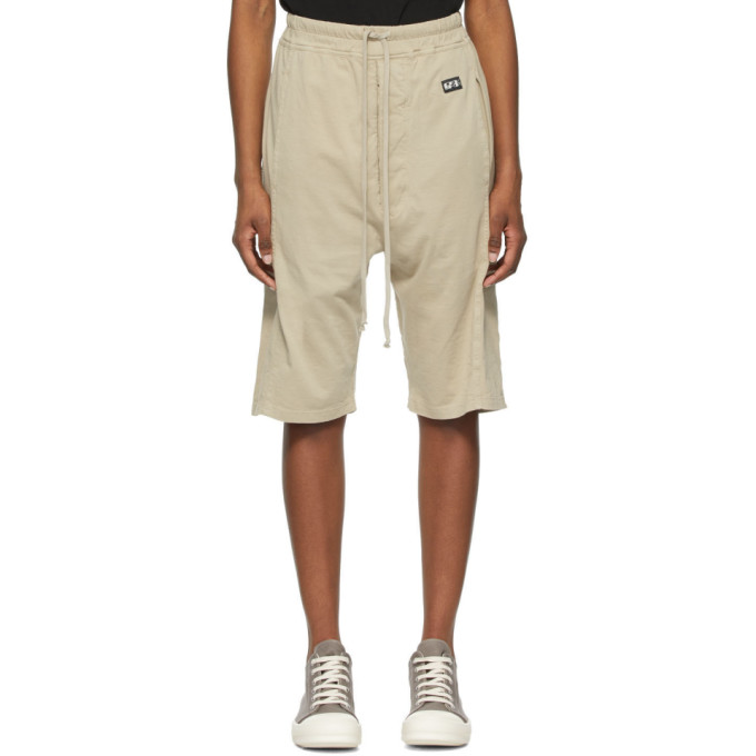 Rick Owens Drkshdw Beige Pusher Shorts  - buy with discount