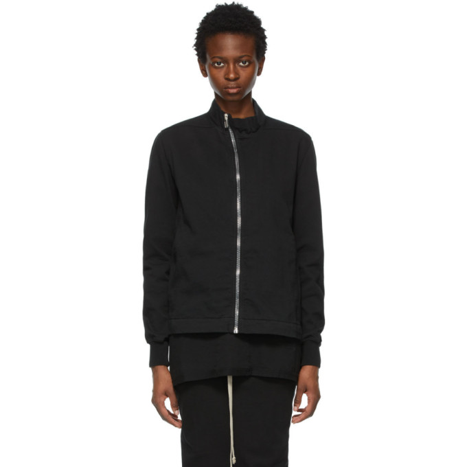 Rick Owens Drkshdw Black Mollino Zip-Up Sweatshirt  - buy with discount