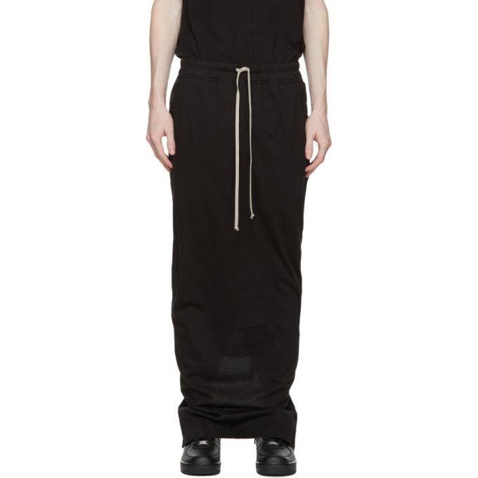 Rick Owens Drkshdw Black Pull-On Pillar Skirt  - buy with discount