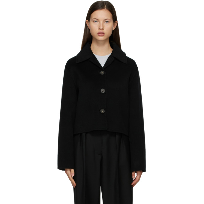 Acne Studios ACNE STUDIOS BLACK WOOL CROPPED JACKET