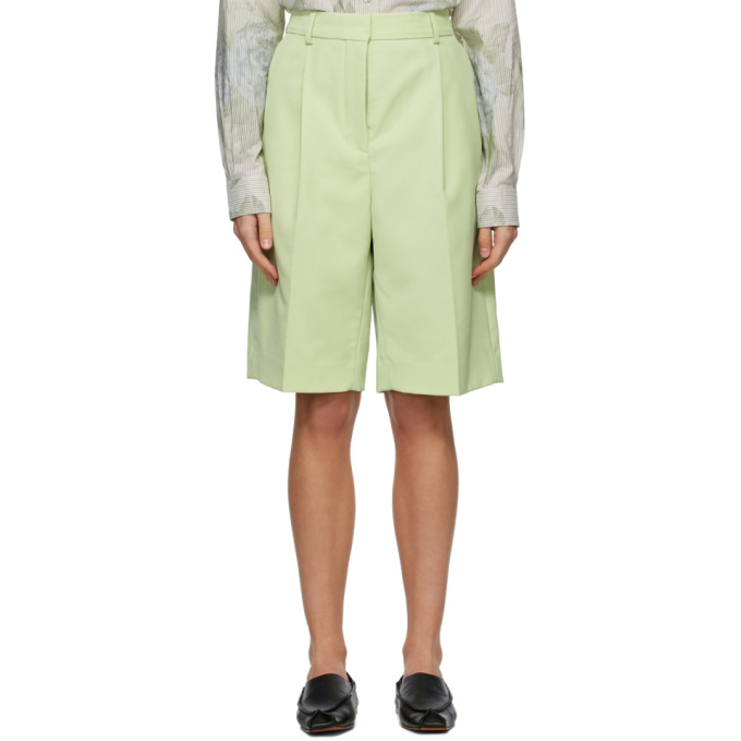 Acne Studios ACNE STUDIOS GREEN WOOL KNEE-LENGTH SHORTS