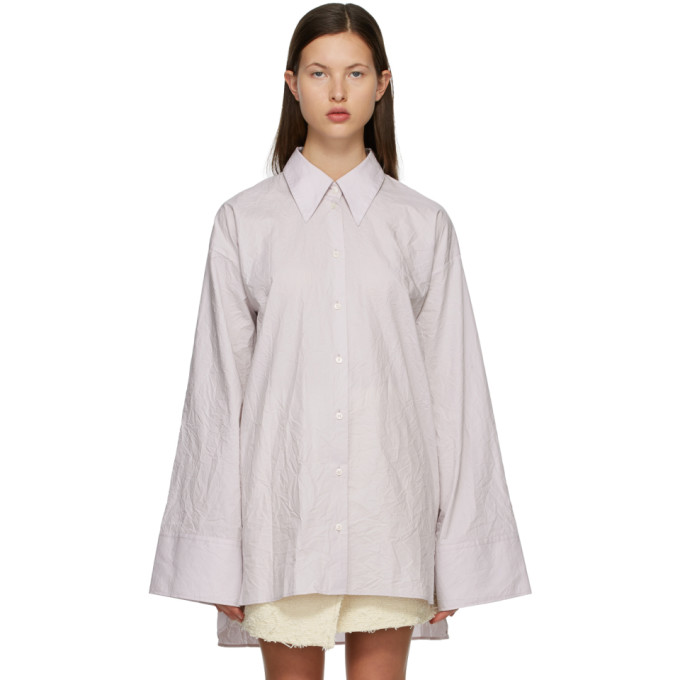 Acne Studios ACNE STUDIOS PURPLE CRINKLED SHIRT