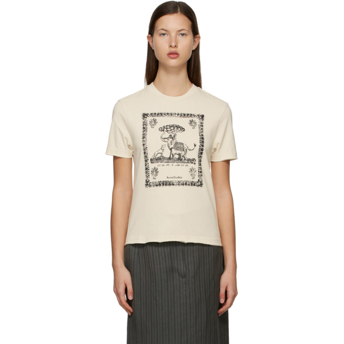 Acne Studios ACNE STUDIOS OFF-WHITE GRAPHIC T-SHIRT