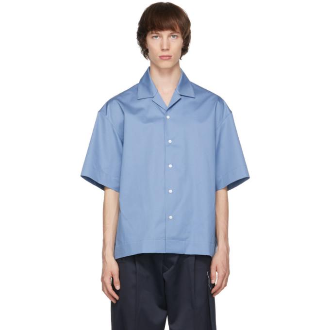 Uniforme Cottons UNIFORME BLUE BOXY BOWLING SHIRT
