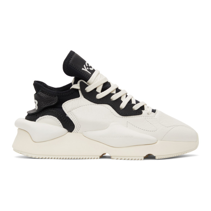 Y-3 Y-3 WHITE AND BLACK KAIWA SNEAKERS