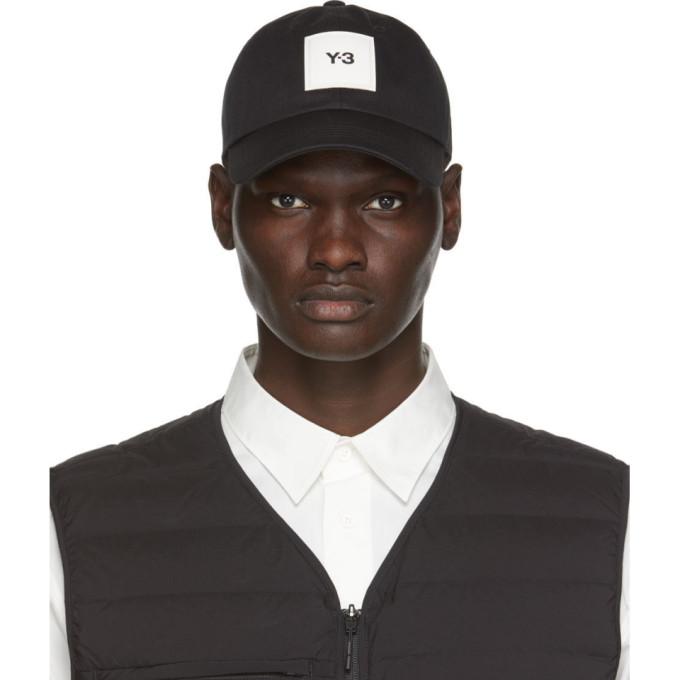 Y-3 Black Square Label Cap  - buy with discount
